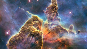 View of the Carina Nebula from the Hubble Telescope