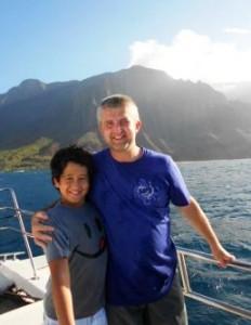Ales & Isaac Na Pali Coast, Kauai sm